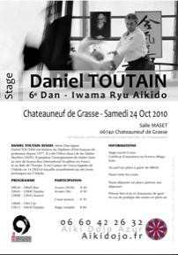 Stage Aikido à Chateauneuf de Grasse avec Daniel Toutain - 24/10/2010