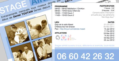 Stages mensuels 2011-2012 et affiche en ligne