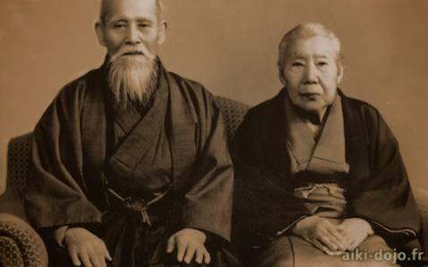 Hatsu and Morihei Ueshiba