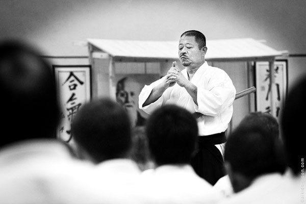 SAITO Hitohira Sensei à Bruz en 2010 - photo © O. Eberhardt