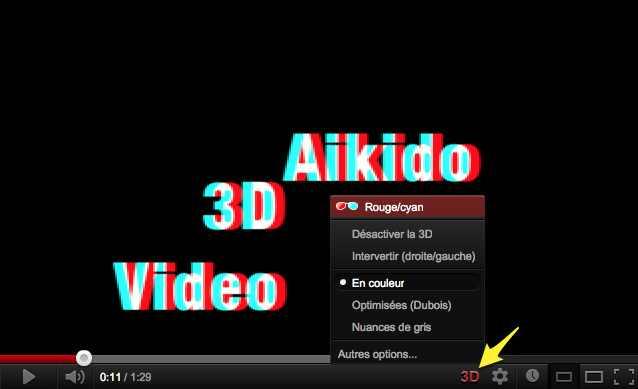 Aikido en vidéo 3D !