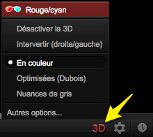Bouton 3D YouTube