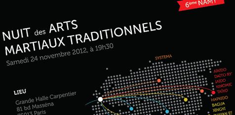 6e Nuit des Arts Martiaux Traditionnels – Novembre 2012