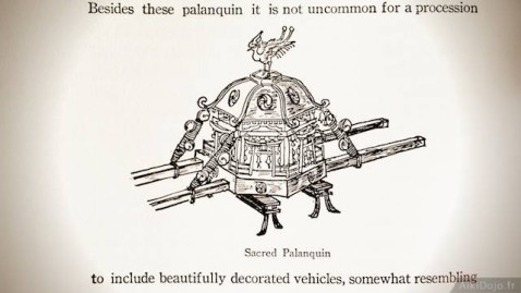Sacred palanquin