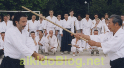 Saito Sensei dirigent un stage à Rennes en 1998