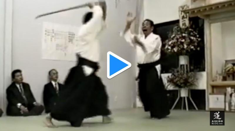 Inauguration saito sensei's aikidojo (iwama 1990)