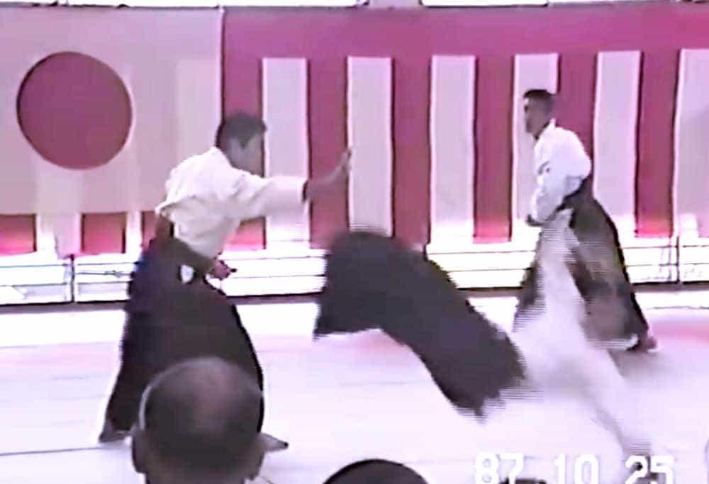SAITO H. Sensei in 1987 (Ibaraki - embu dojo)